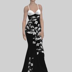 White Flower Gown