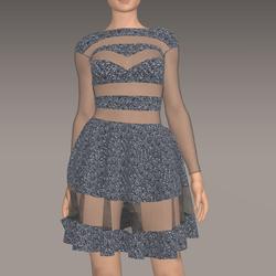 Sequin Dress Rosa