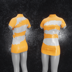 Dress Mila Latex Holes orange