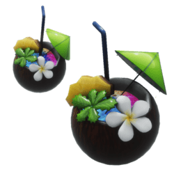 tropical coconut cocktail drink