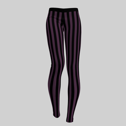 Leggings Maddy Stripes Black & Purple 2.0