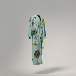 Silk Caftan Light Blue