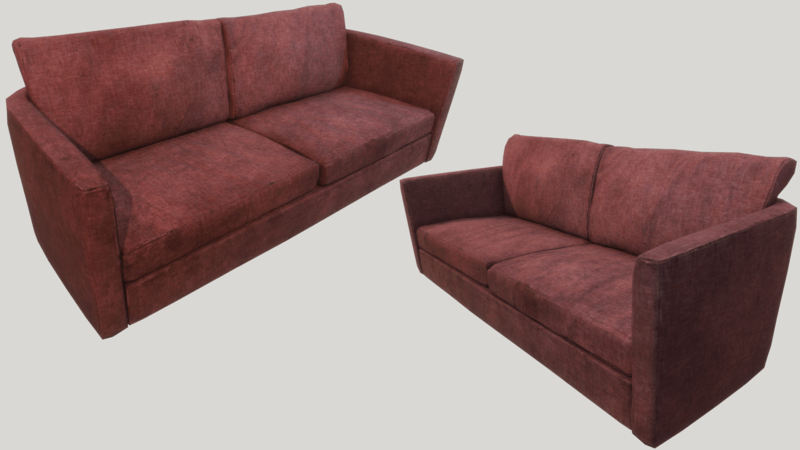 Old Dirty Couch - Red | Sansar Store