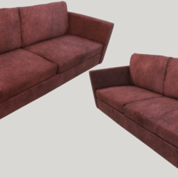 Old Dirty Couch - Red
