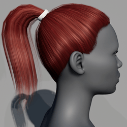 Hair - Pony Tail - Red Cherry