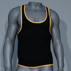 Sexy Men Tank - Black and Yellow