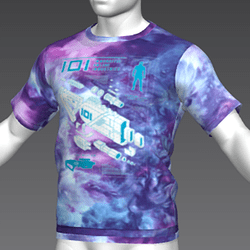 Ready Player One: Schematic T-Shirt (Tiedye) (M)