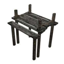 Small Dock with Ropes
