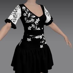 Flirty Dress with Flowers by ACpixl