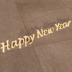 Happy New Year Sign (English)