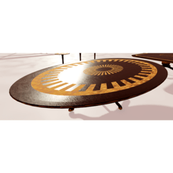 Oval Wooden Table With Inlays 01