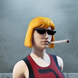 He-Man Hair Glasses Smoke (female)