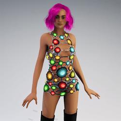 AV2 - Futuristic Fashion Led Mini Dress