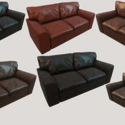 Old Clean Leather Couches - Collection