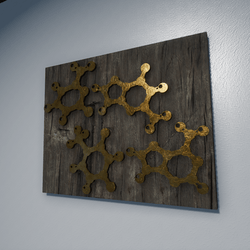 GOLDEN D.N.A CODE -DECORATIVE WALL ART