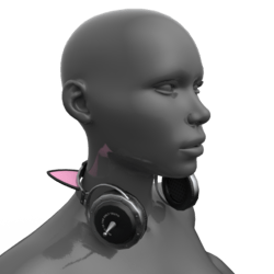Headphones Black-Pink (Neck)