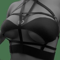 Womens Pentagram Top - Black