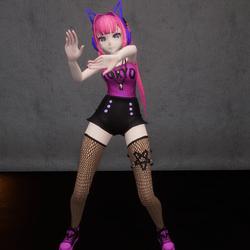 Cute Anime Girl-Hip Hop- NPC