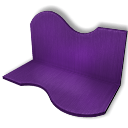 Display For Shop ( H5-W10-D5 ) - Purple - Collision Mesh
