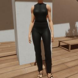 TKA-Jumpsuit black leather