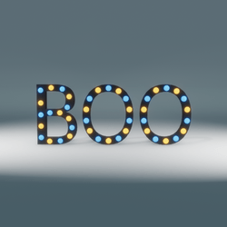 Boo Marquee Blinking Sign