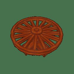 Cart Wheel Table