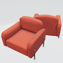 Hero Lounge Chair Orange