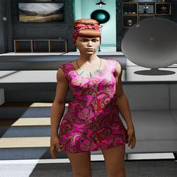 Psicodellic Pink Dress