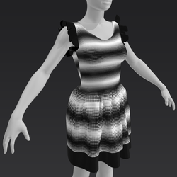 Ruffle Dress - Monochrome