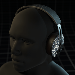 Polygone ~ Headphones Camouflage Ice