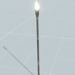 Tiki Torch (with animated flame)