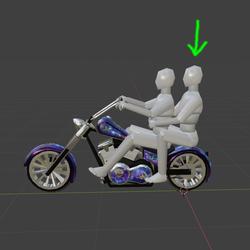 Passenger on bike emote