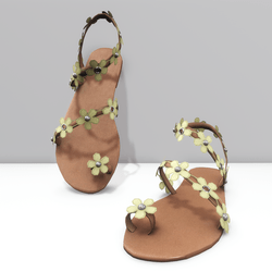 Ring toe sandals for Alina - yellow