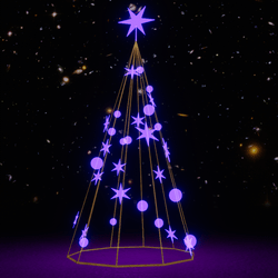 Light Christmas Tree  Purple  Set
