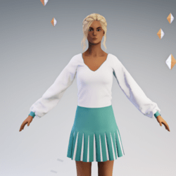 Pleated Skirt Outfit #1