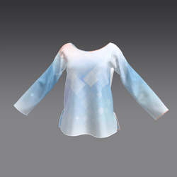 Piped Longsleeved Top Pastel Abstract