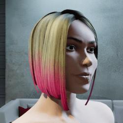 Hair Maya two tone pink tintable