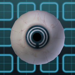 Subtle Grid Eyes - Blue (F)