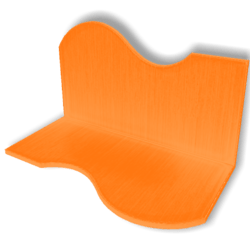 Display For Shop ( H5-W10-D5 ) - Orange - Collision Mesh