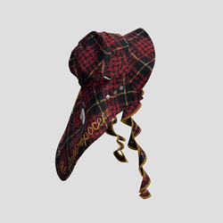 Trailblazing Hat black and red checked