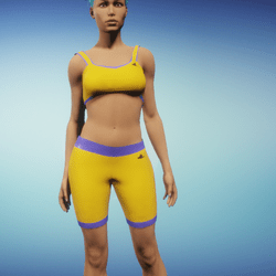 Orange Athletic Outfit