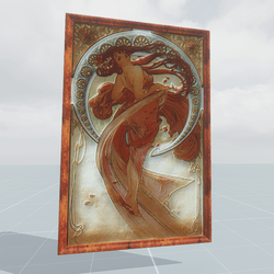 One of the four Muses Dance Alphonse Mucha