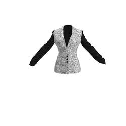 Written Print Ladies Jacket/Shirt