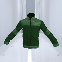 Green Bomber Jacket Leather