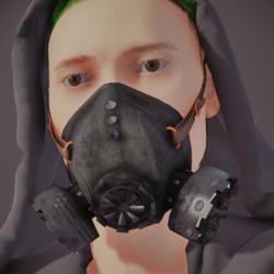 Gas Mask Respirator Black