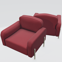 Hero Lounge Chair Red