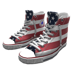 Girl shoes San-Star sneakers high stars&stripes for woman