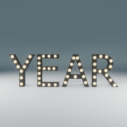Year Marquee Blinking Sign