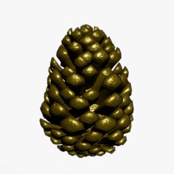 Golden Pinecone Ornament