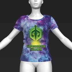 Ready Player One: Gregarious Games T-Shirt (Tiedye) (W)